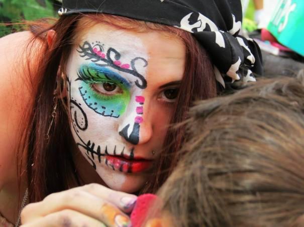 Face Painter at Cinco de Mayo Festival, Denver, 2013