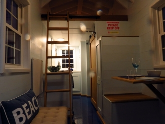 Entry view in a Tiny Home from 84 Lumber.