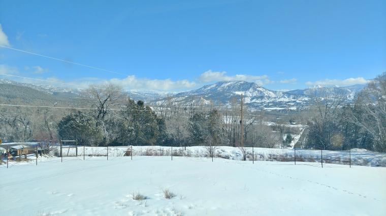A beautiful mountain view.